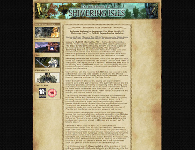 Elder Scrolls Shivering Isles
