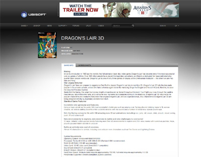 Dragons Lair 3D