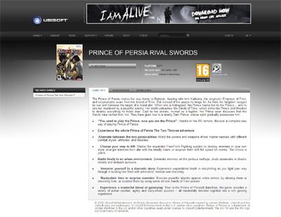 Prince of Persia Rival Swords