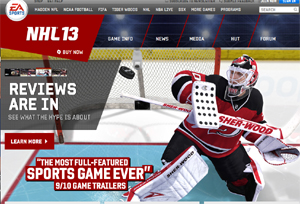 NHL 2013 Hockey Game
